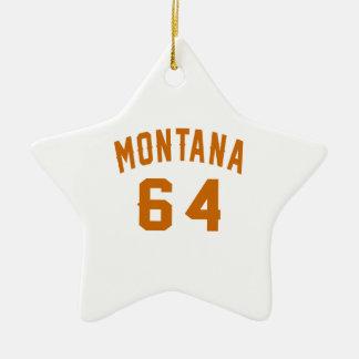 Ornamento De Cerâmica Montana 64 designs do aniversário