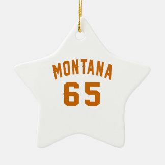 Ornamento De Cerâmica Montana 65 designs do aniversário