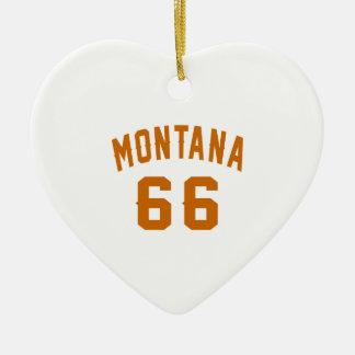 Ornamento De Cerâmica Montana 66 designs do aniversário