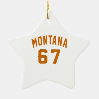 Ornamento De Cerâmica Montana 67 designs do aniversário