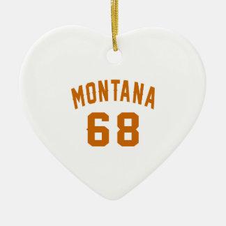 Ornamento De Cerâmica Montana 68 designs do aniversário