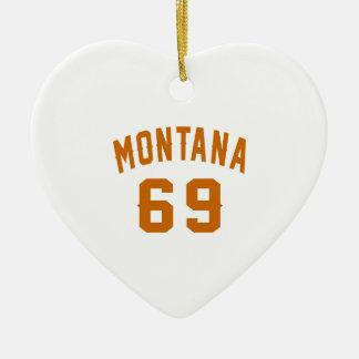 Ornamento De Cerâmica Montana 69 designs do aniversário