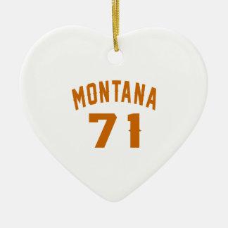 Ornamento De Cerâmica Montana 71 designs do aniversário