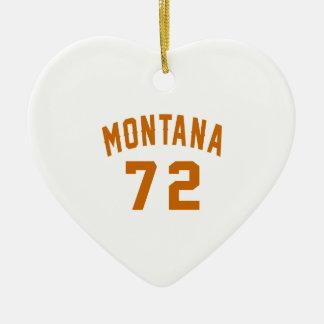 Ornamento De Cerâmica Montana 72 designs do aniversário