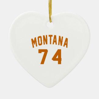 Ornamento De Cerâmica Montana 74 designs do aniversário