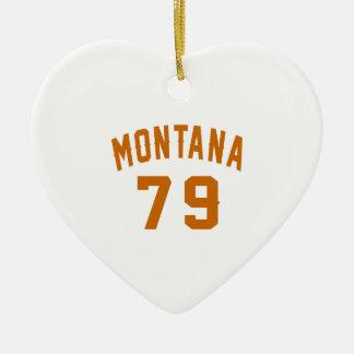 Ornamento De Cerâmica Montana 79 designs do aniversário
