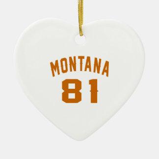 Ornamento De Cerâmica Montana 81 designs do aniversário