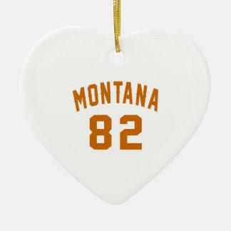 Ornamento De Cerâmica Montana 82 designs do aniversário
