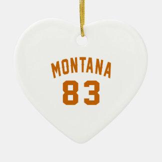 Ornamento De Cerâmica Montana 83 designs do aniversário