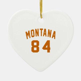 Ornamento De Cerâmica Montana 84 designs do aniversário