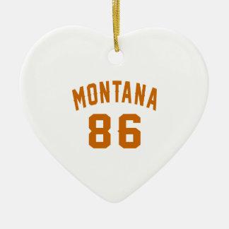 Ornamento De Cerâmica Montana 86 designs do aniversário