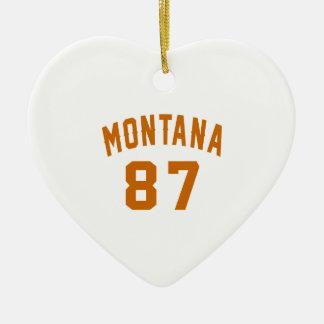 Ornamento De Cerâmica Montana 87 designs do aniversário