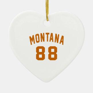 Ornamento De Cerâmica Montana 88 designs do aniversário