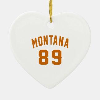 Ornamento De Cerâmica Montana 89 designs do aniversário