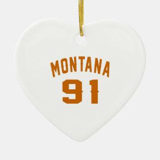 Ornamento De Cerâmica Montana 91 designs do aniversário