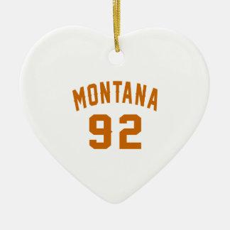 Ornamento De Cerâmica Montana 92 designs do aniversário
