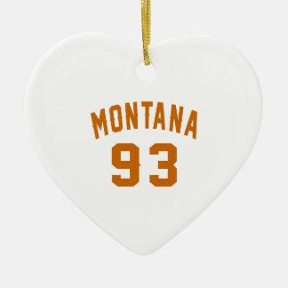 Ornamento De Cerâmica Montana 93 designs do aniversário