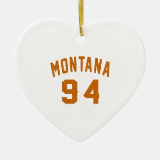 Ornamento De Cerâmica Montana 94 designs do aniversário