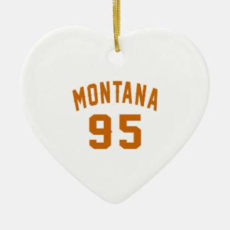 Ornamento De Cerâmica Montana 95 designs do aniversário