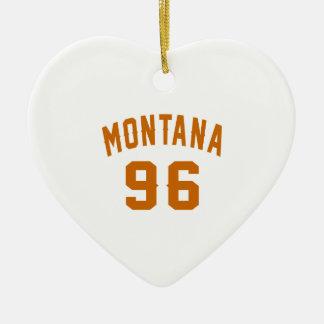 Ornamento De Cerâmica Montana 96 designs do aniversário