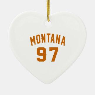 Ornamento De Cerâmica Montana 97 designs do aniversário