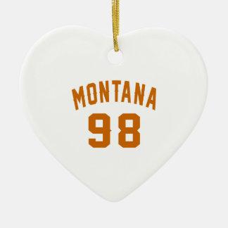 Ornamento De Cerâmica Montana 98 designs do aniversário