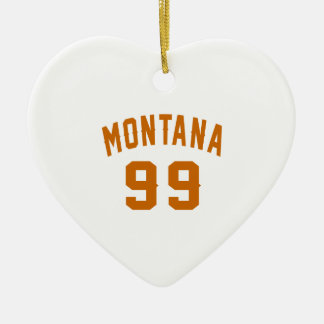 Ornamento De Cerâmica Montana 99 designs do aniversário