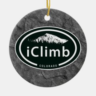 Ornamento De Cerâmica Montanha de escalada personalizada de Colorado do