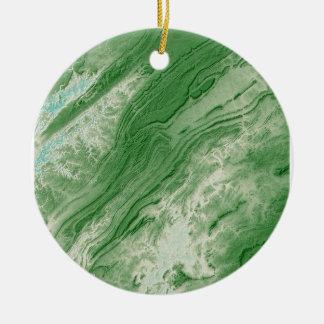 Ornamento De Cerâmica Montanhas apalaches no estilo das caraíbas de