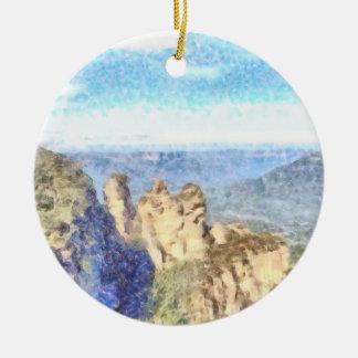 Ornamento De Cerâmica Montanhas ásperas e bonitas