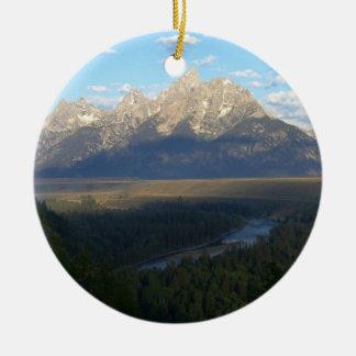 Ornamento De Cerâmica Montanhas de Jackson Hole (parque nacional grande