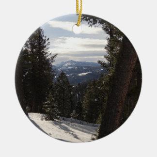 Ornamento De Cerâmica Montanhas de Madison no inverno em Montana