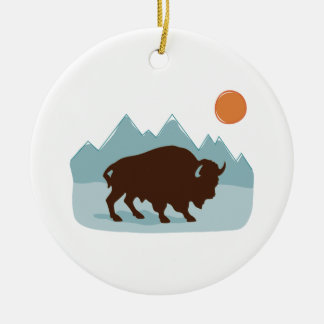 Ornamento De Cerâmica Montanhas do búfalo