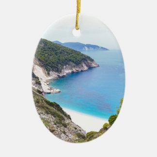 Ornamento De Cerâmica Montanhas e mar na baía grega