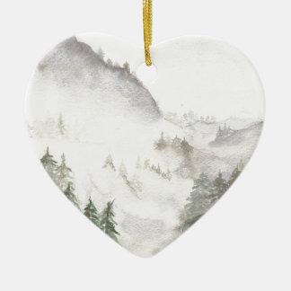Ornamento De Cerâmica Montanhas enevoadas