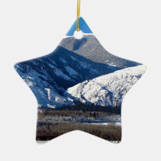 Ornamento De Cerâmica Montanhas nevado BC em Canadá