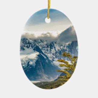 Ornamento De Cerâmica Montanhas nevado de Andes, EL Chalten Argentina