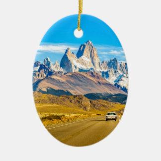 Ornamento De Cerâmica Montanhas nevado de Andes, EL Chalten, Argentina