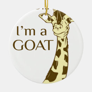 Ornamento De Cerâmica MOO im uma cabra