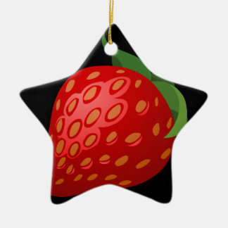 Ornamento De Cerâmica Morango da comida do pulso aleatório