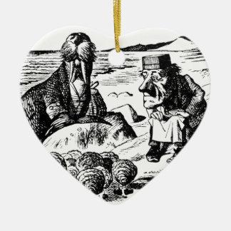 Ornamento De Cerâmica Morsa, Carpeter e ostras