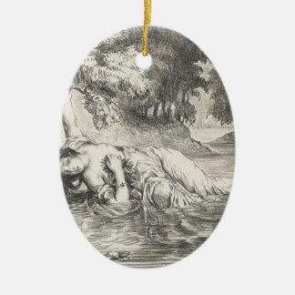 Ornamento De Cerâmica Morte de Ophelia