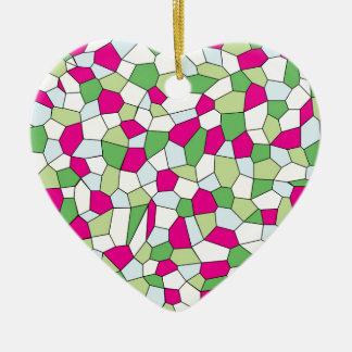 Ornamento De Cerâmica Mosaico Pastel