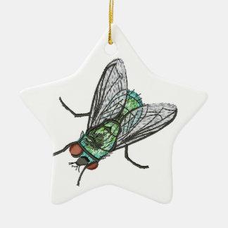 Ornamento De Cerâmica mosca verde - imitação do bordado