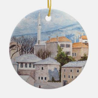 Ornamento De Cerâmica Mostar, Bósnia - pintura acrílica de Townscape
