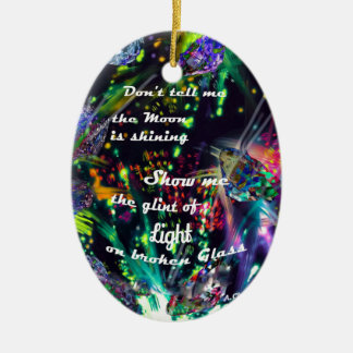 Ornamento De Cerâmica Mostre-me uma luz diferente
