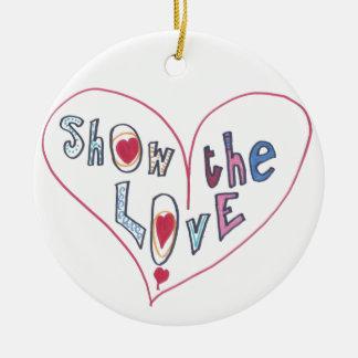 Ornamento De Cerâmica Mostre o amor