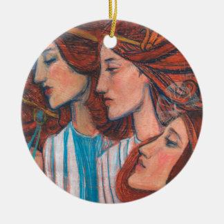 Ornamento De Cerâmica Motivo de Nouveu da arte dos anjos, belas artes