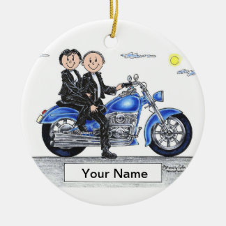 Ornamento De Cerâmica Motocicleta - casal