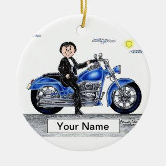 Ornamento De Cerâmica Motocicleta - fêmea